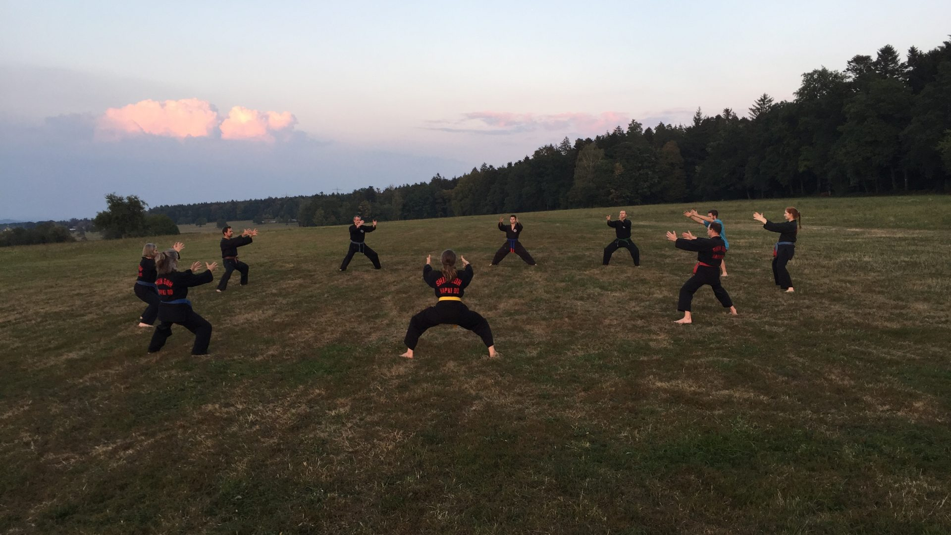 Training unter freiem Himmel