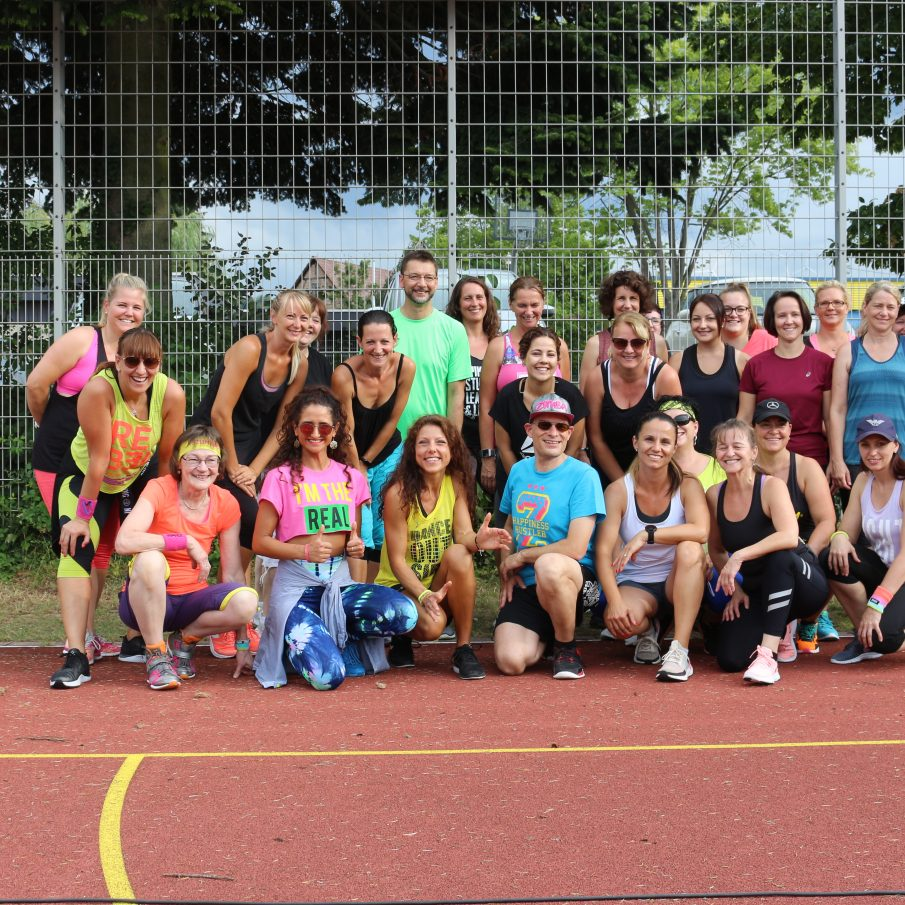 Tolle Zumba- und Fitness-Party trotz Unwetter