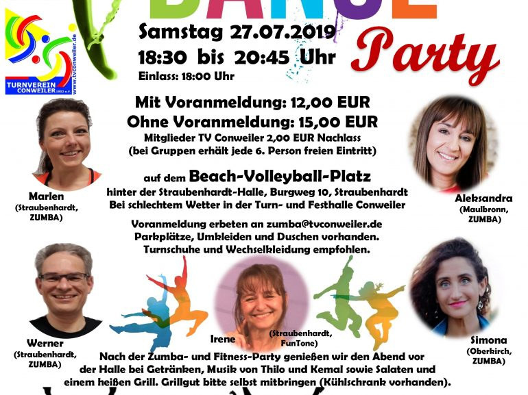 Zumba- und Fitness-Party Summer Dance