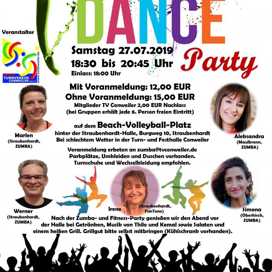 Zumba- und Fitness-Party Summer Dance