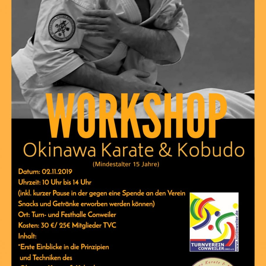 Karate- und Kobudo-Workshop muss abgesagt werden!