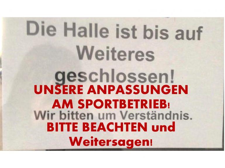 Anpassung Sportbetrieb an Sperrung Straubenhardthalle WOCHENÜBERSICHT - Update Stand 27.01.2020 / 21:30 Uhr
