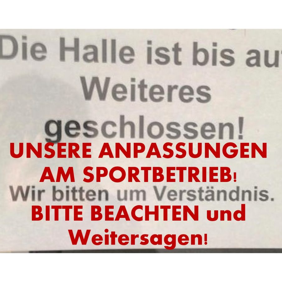 Anpassung Sportbetrieb an Sperrung Straubenhardthalle WOCHENÜBERSICHT