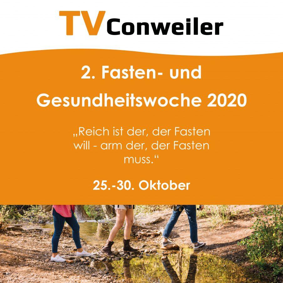 Ankündigung der 2. Fasten- und Gesundheitswoche im Herbst 2020