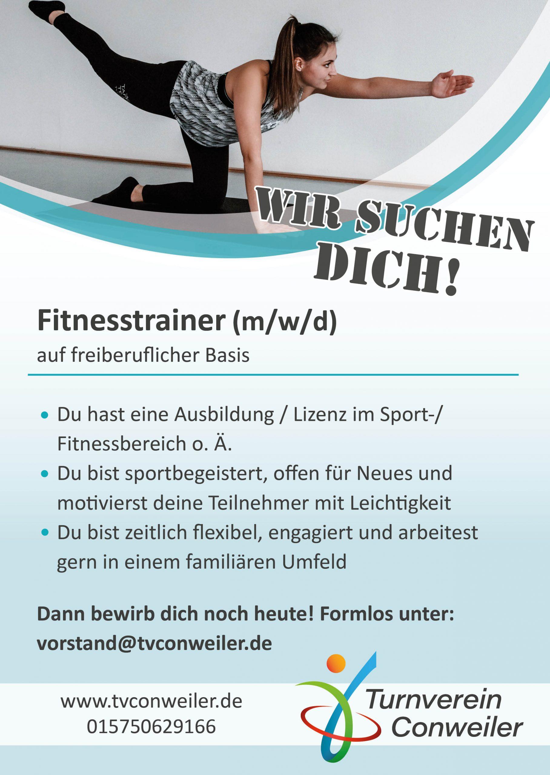 Fitnesstrainer gesucht