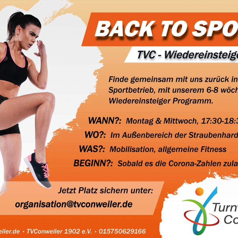 Back to Sports! Back to TVC! Wiedereinsteiger-Kursangebot