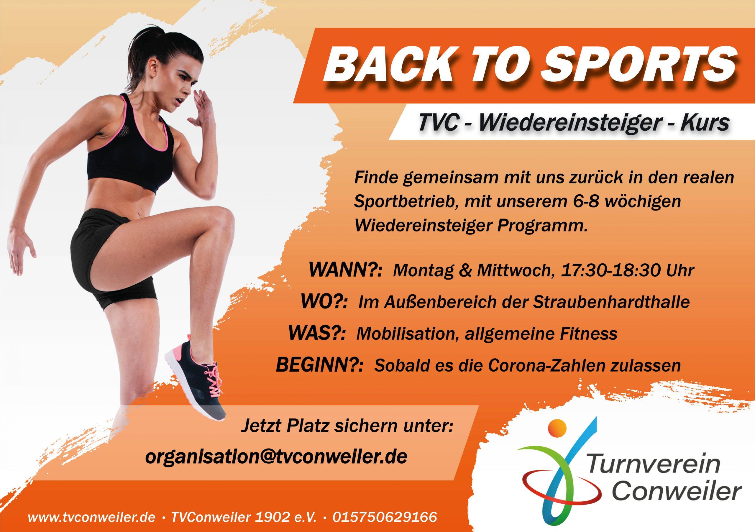 Back to Sports! Back to TVC! Wiedereinsteiger-Kursangebot