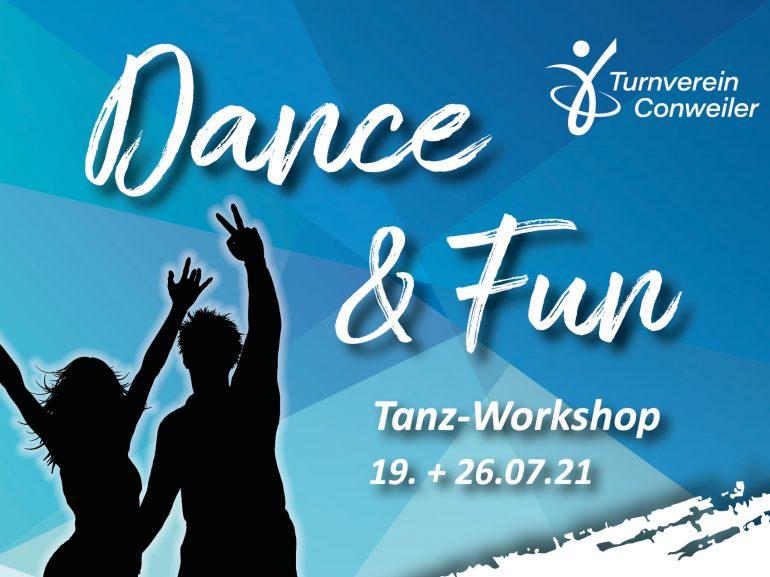 Dance & Fun - Tanz-Workshop! Am 19. und 26.07.2021!