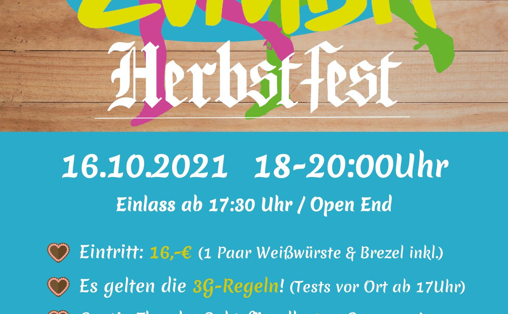 Zumba-Herbstfest 16.10.2021 - Lass' uns zusammen Tanzen!