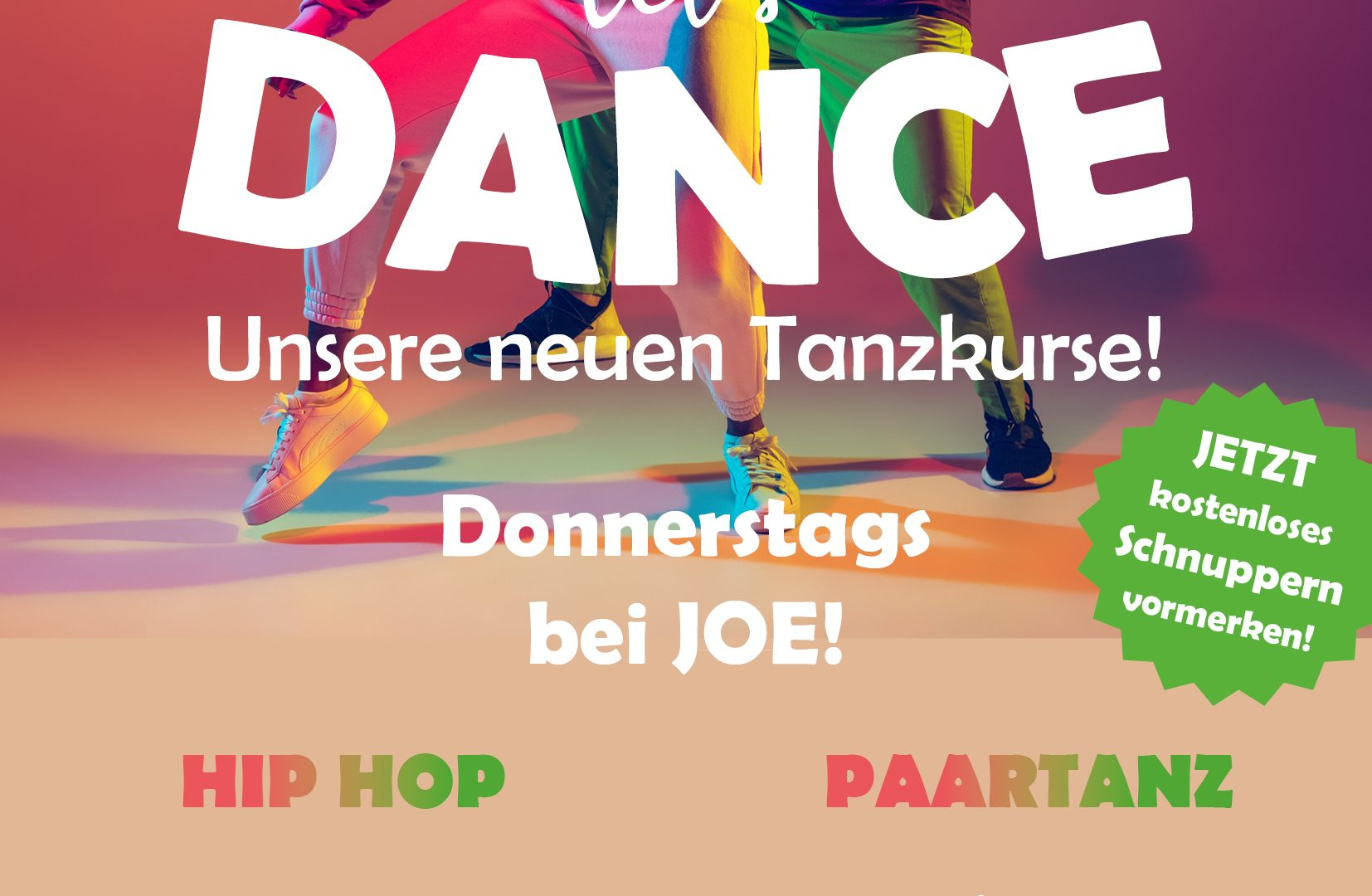 Neue Tanzangebote Hiphop/Shuffle und Paartanz in der Straubenhardthalle